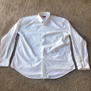 Alfani White Mens Dress Shirt